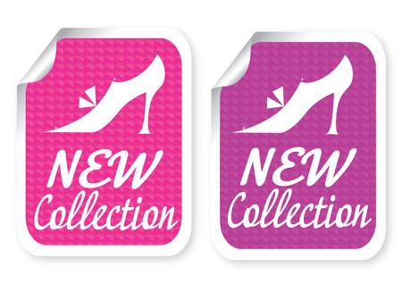 shoe sale: Ilustraci�n de etiqueta con un texto