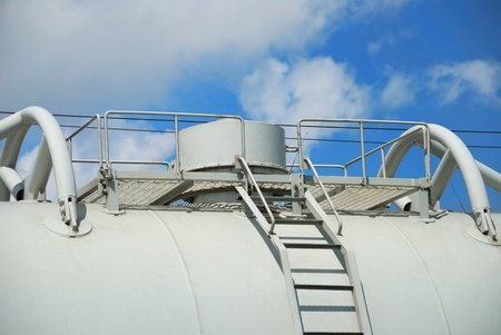 Cover of the tank for transportation of industrial liquids photo
