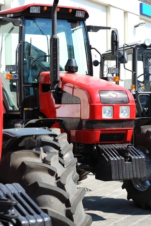 Exhibition of new tractors for agriculture and other works Stock Photo - 9284042