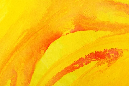 yellow background. watercolor on paper Stock Photo - 9888949