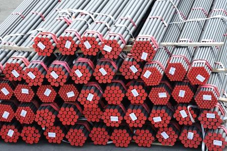 kunststoff rohr: viele neue Rohre als Hintergrund