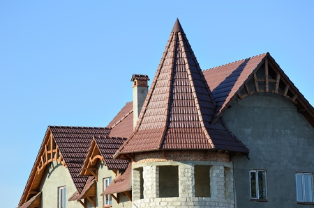 roof construction for private house