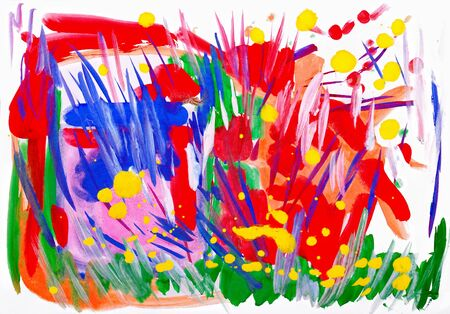 sprightly: abstract funny watercolor blots