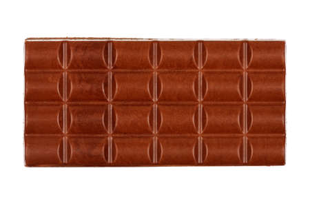 chocolate bar isolated on white photo