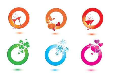 set of design elements for celebration.  isolated Иллюстрация