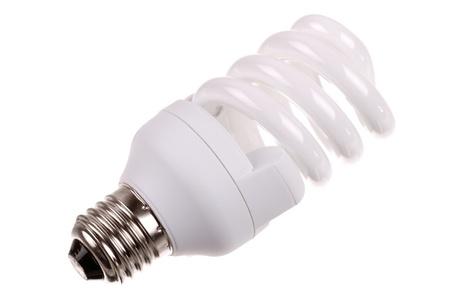 tubos fluorescentes: bombilla de ahorro de energía en el fondo blanco