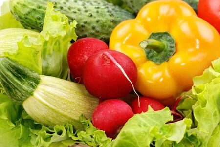 vegetables and greens as background photo