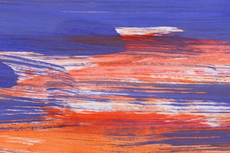 Abstract orange and blue background from watercolor photo