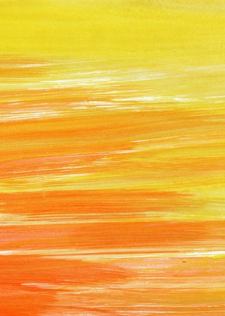 scanned: Abstract yellow and red background from watercolor