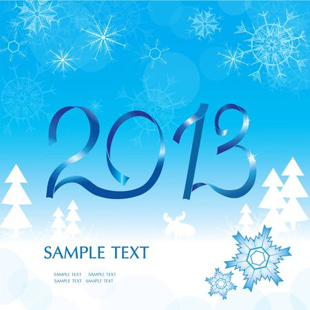 Christmas abstract blue background. Vector