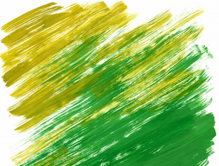 Abstract yellow and green background from watercolor photo