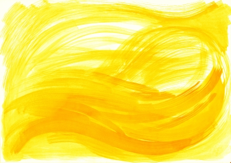 Abstract yellow background from watercolor photo