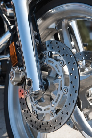 motorcycle brake and wheel photo