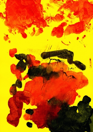 contrast resolution: Abstract red and green background from watercolor