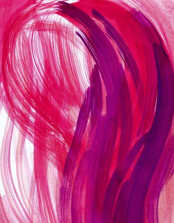 Abstract pink and red background from watercolor Stock Photo - 15917697