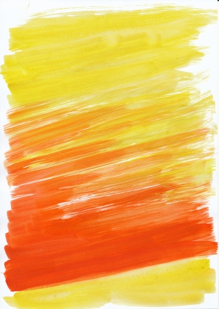 Abstract yellow and red background from watercolor Stock Photo - 16113463