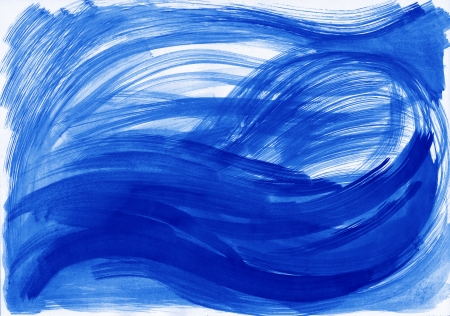 Abstract blue background from watercolor Stock Photo - 16113461