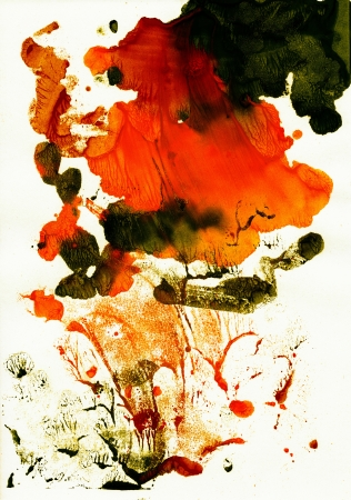 Abstract red and green background from watercolor Stock Photo - 16113464