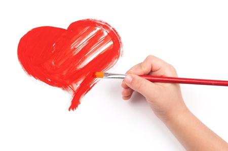 dessin enfants: enfant de dessiner un coeur