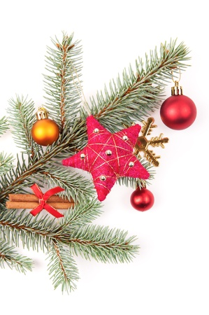 christmas tree decoration on white Stock Photo - 16113453