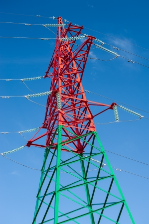 high voltage power lines photo