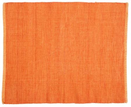 woolen fabric: tela de color naranja con rayas de fondo