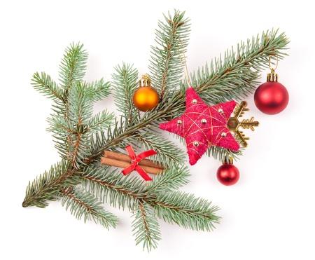 christmas tree decoration on white Stock Photo - 16226766