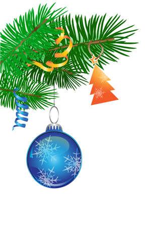 christmas tree decoration on white