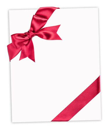 pink bow: gran lazo rojo en la hoja de papel