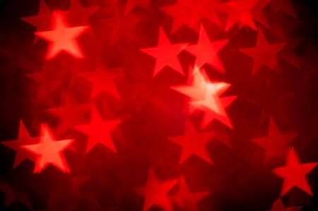 red stars bokeh as background photo