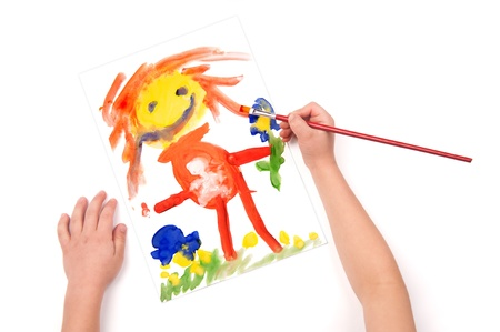 child draw a pregnant woman