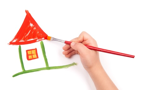 child draw a home photo