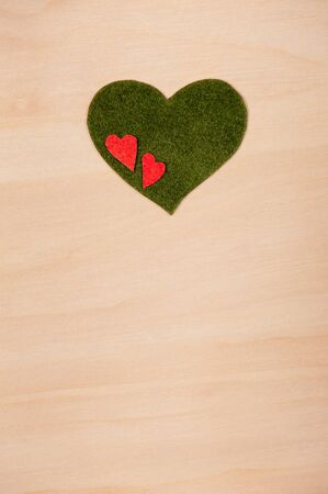 hearts on a wooden background Stock Photo - 16879417