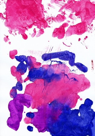 perfect fit: Abstract blue and pink background from watercolor