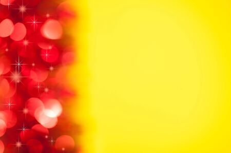 red bokeh on yellow background Stock Photo - 17048902