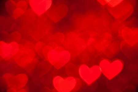 love image: red hearts as background Stock Photo