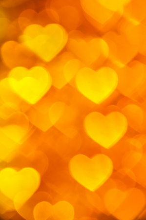 golden hearts background photo