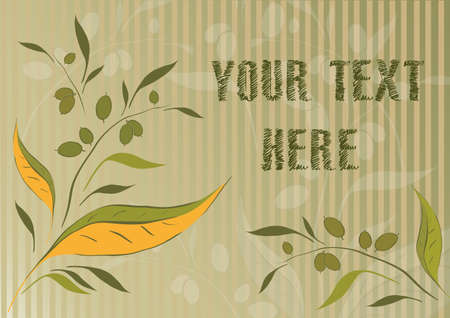 Background with olive branches and place for text Иллюстрация