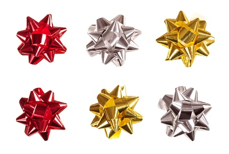 set of bows made of shiny ribbon Stock Photo - 17532854