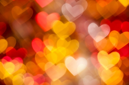 hearts background from golden and red color Stock Photo - 17532855