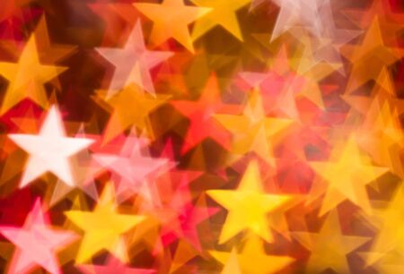 stars background from golden and red color photo