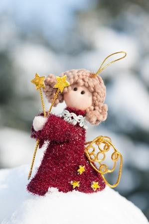 snowdrift: angel doll on snowdrift