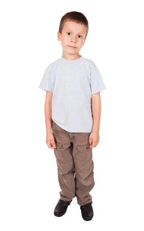 sad boy: sad boy isolated Stock Photo