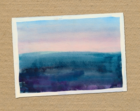 picture of sea, watercolor drawing photo