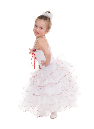 girl in a ball gown isolated photo