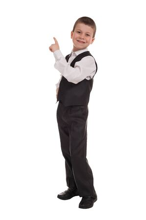 boy in suit isolated photo