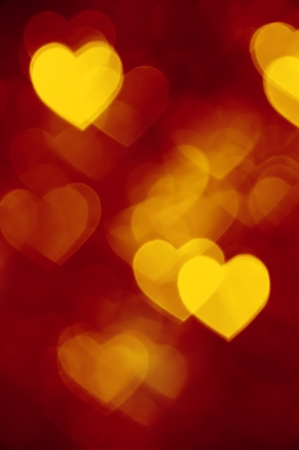 red and golden bokeh background photo