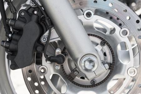 motorcycle brake disk and wheel photo