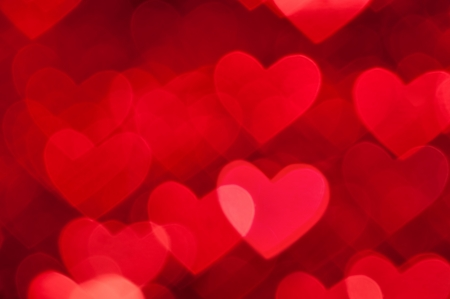 red hearts bokeh background Stock Photo - 18797435