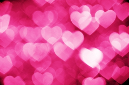 pink bokeh of hearts background photo
